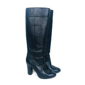 MICHAEL KORS Black Leather Pull On Boot